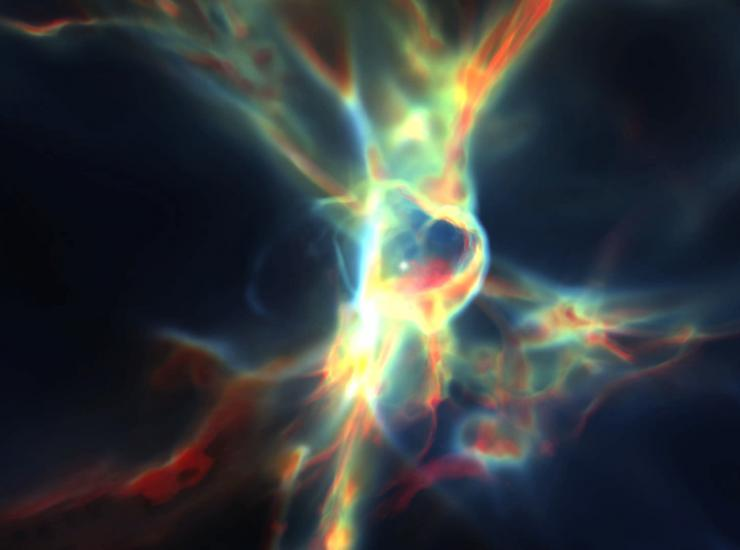 Visualization Lab of SLAC's Kavli Institute for Particle Astrophysics and Cosmology (KIPAC).