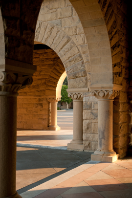 Stanford columns on the Quad
