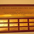 Paul H. Kirkpatrick Award